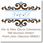 Name Doodles - Square Address Labels/Stickers (Richmond Brown)